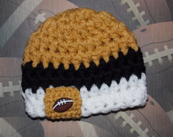 New Orleans Saints inspired baby hat - sports props- team sports - photo prop = made to order