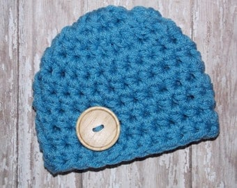 Chunky baby hat - photo prop - baby shower gift - bringing baby home - made to order