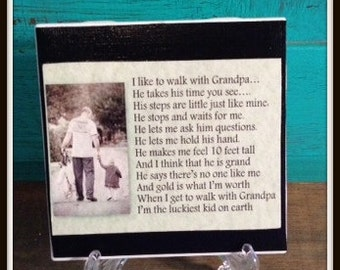 GRANDFATHER Quote Tile  Fathers Day Gift