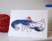 A7 Folded Greeting Card - Lobster Clause