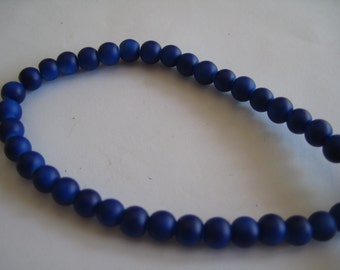 Blue Round Glass Bead Destash