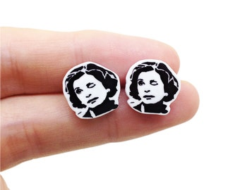 Lucille Bluth Earrings - Earring Studs - Unique Jewelry - The Blooth Family  - Sarcasm - Funny -  Pop Culture - Lucille - Tobias Funke