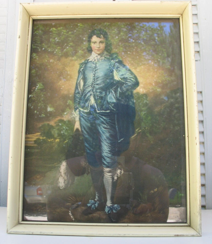 Blue Boy And Pinkie Litho Vintage Framed Prints In By