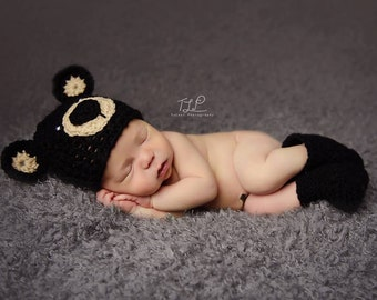 crochet newborn hat, newborn hat, baby hat, newborn beanie, bear hat, photo prop, crochet newborn beanie