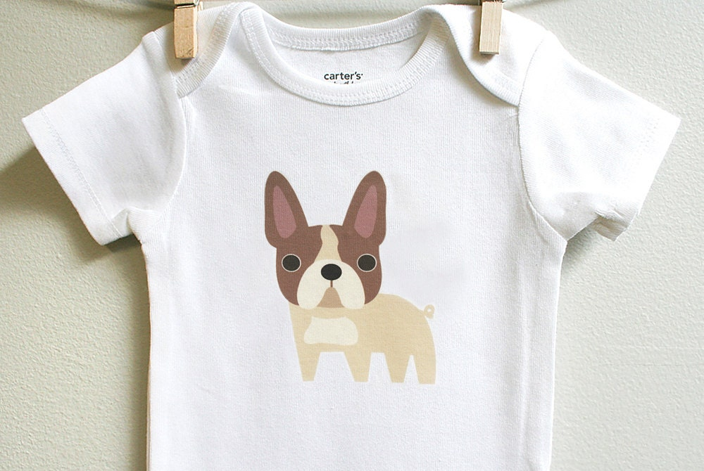 franz sische bulldogge baby kleidung von squarepaisleydesign. Black Bedroom Furniture Sets. Home Design Ideas
