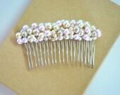 Pearl Hair Comb: Bridal Head Piece, Wedding Accessory