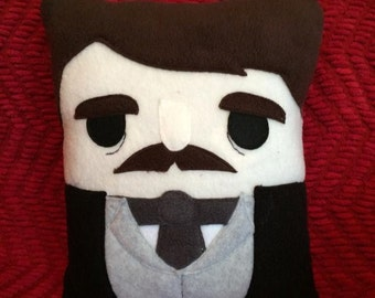 Edgar Allan Poe, Pillow, cushion, plush, Poe