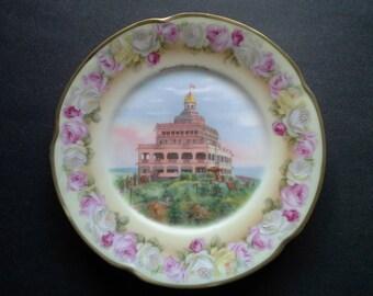 Summit House Mt. Tom Porcelain Souvenir Plate Jaeger & Co.