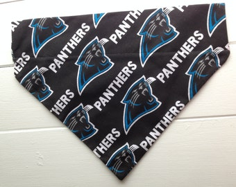 Small Carolina Panthers Dog Bandana