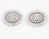 rhinestone crystal bridal shoe clips