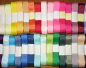 "5/8"" Grosgrain Ribbon, 5-yd bundles!  Bow making, Scrap booking, floral decor, sewing notions, crafts"