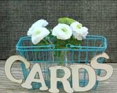 Wedding Anniversary Box - Card Box Rustic Wedding Card Box,  Wire Basket, Wooden Card Banner, Bridal/Baby Shower Decor