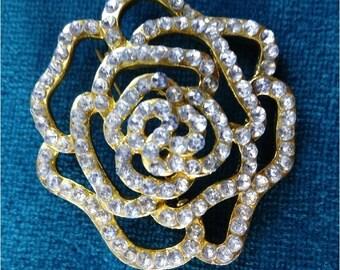 Beautiful Flower Brooch Rhinestone Brooch