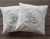 Lone Wolf Pillow covers for 16x16 inch inserts Inugami cushion covers(set of 2) pillow sham