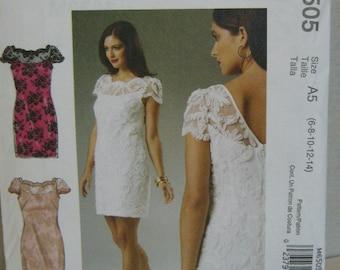 Bridal Bridesmaids Party Dress Pattern, Mc Calls 6505, SZ 6 through 14