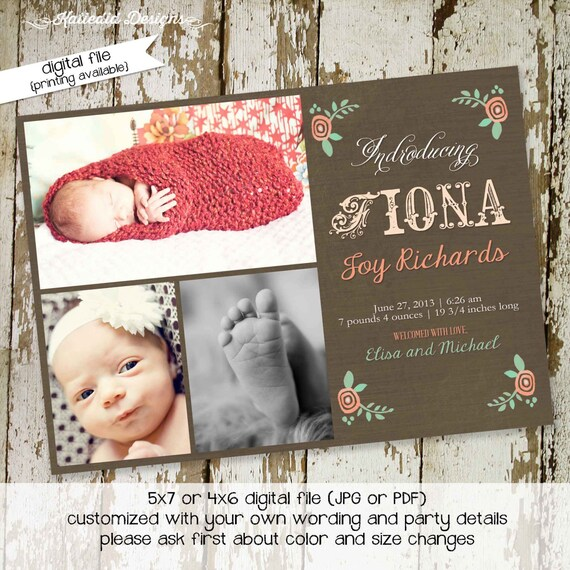 storybook baby shower invitation birth announcement girl baptism birthday sip and see sprinkle ultrasound (item 412) shabby chic invitations