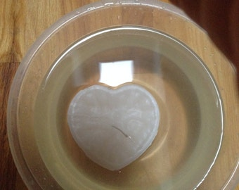 """4 1/2"""" by 4"""" heart candle"""