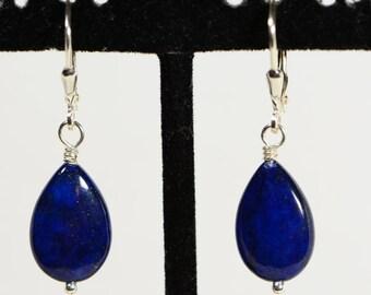 Lapis Lazuli Drop Earrings Natural Stone Earrings Gemstone earrings Lapis Earrings