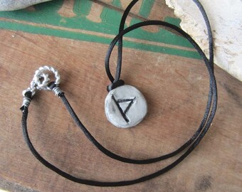 rune necklace THURISAZ runes pendant witchcraft wicca wiccan jewelry pagan magick mystical magic amulet viking runes elder futhark