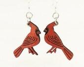 Cardinals Earrings - Lightweight - Eco Friendly Earrings