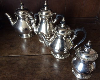 Vintage Manchester coffee teapot service metal hotel circa 1950's / English Shop