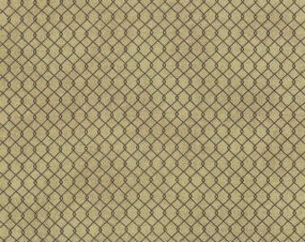 "LAST ONE 1 Yard 13"" of Little Black Dress 2 Tan Chain Link Fishnet  by BasicGrey  for Moda"