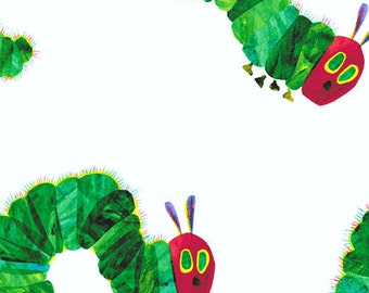 The Very Hungry Caterpillar Large Caterpillars by Eric Carle for Andover Fabrics