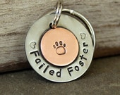 Dog lovers key chain- Failed Foster- Foster Pets key chain