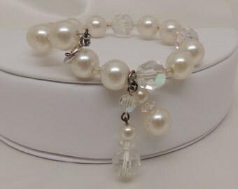 Vintage Laguna Crystal and Pearl Bracelet