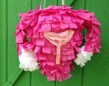Uterus Piñata, Baby Shower Piñata, Happy Moon Day Piñata, Gender Reveal