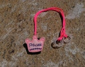 Pink and Purple Princess Crown - Hearing Aid Cord or Cochlear Implant Cord