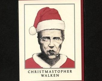 CHRISTOPHER WALKEN CHRISTMAS - Funny Christmas Card - Christopher Walken - Christmas Card - Pop Culture Card - Funny Christmas - Item# X034