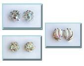 Vintage Crystal and Irisdescent Aurora Borealis Earrings Destash