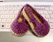 NEW - Buggs - Crochet Sling Back Baby Espadrille Shoes in Orchard Plum Cotton