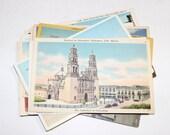 14 Vintage Mexico Postcards Used