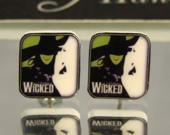 Wicked Stud Earrings - Playbill - Broadway Musical