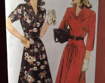 Elegant wartime/1940's dress