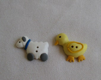 Lamb and Duck Buttons