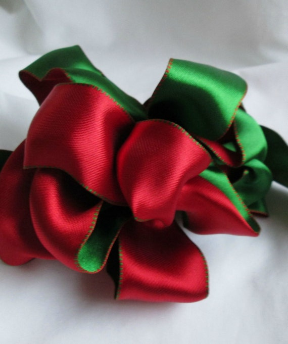 "Wire Ribbon for Christmas. Beautiful Red and Green... 1.5"" X 12 Feet"