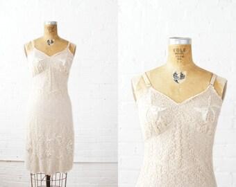 SALE / 1960s Slip - 60s Slip - Nude Lace Vanity Fair Slip