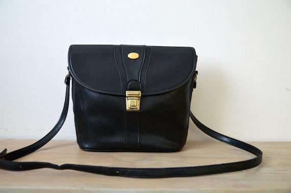 Black Cross Body Bag 80s