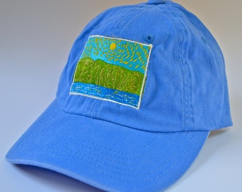 Embroidered low-profile hat from Damn the Dullness Jeff Schilling