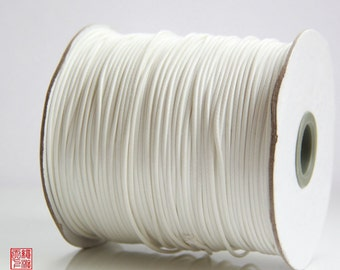 7M 1.5mm White Korea Wax Cord