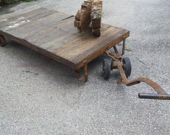 Vintage Factory Cart Table