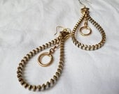 Zipper Hoop Earrings
