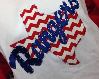 Chevron Texas Rangers 3/4 Sleeve Shirt
