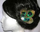 Peacock Wedding Feather Bridal Hair Clip
