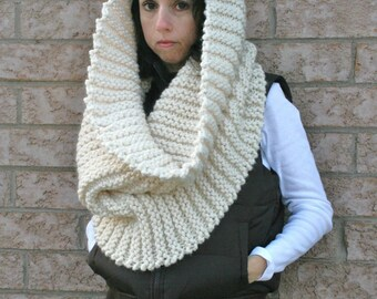 Large Chunky Ribbed Knit Cowl in Fisherman/THE T.O. Warmer