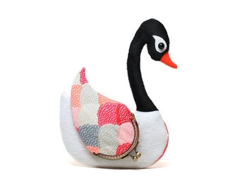 Black-necked swan multipurpose wallet and card holder