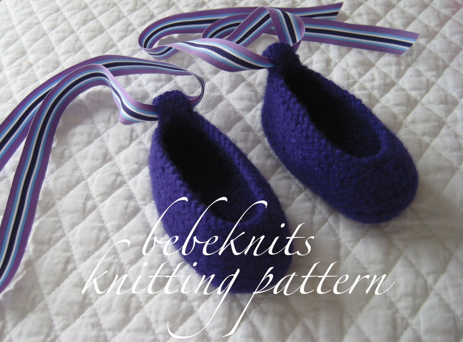 Baby Ballet Slippers Knitting Pattern : Bebeknits Felted Baby Ballet Slippers Knitting Pattern in 3